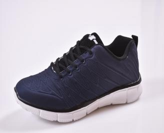 Юношески  маратонки   текстил сини PEQG-26831