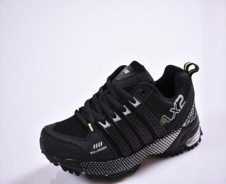 Юношески  маратонки   текстил черни XWJI-26835