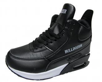 Юношески обувки Bulldozer еко кожа  черни VGYF-22015