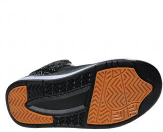 Юношески обувки Bulldozer еко кожа черни YKJL-22018