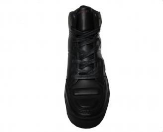 Юношески обувки Bulldozer еко кожа черни YWGT-22256