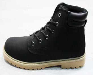Юношески  обувки Bulldozer  еко кожа черни IFQZ-25079