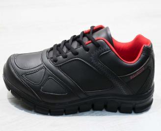 Юношески  обувки Bulldozer  еко кожа черни ARFR-25096