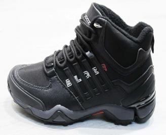 Юношески  обувки Bulldozer  еко кожа черни CYBX-25099