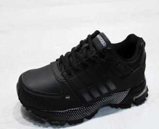 Юношески  обувки Bulldozer  еко кожа черни LUBB-25105