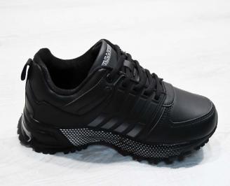 Юношески  обувки Bulldozer  еко кожа черни 3