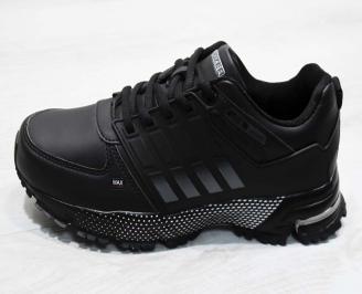 Юношески  обувки Bulldozer  еко кожа черни 6