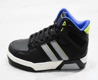 Юношески  обувки Bulldozer  еко кожа черни HZXK-25114