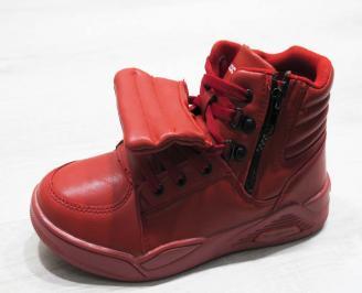 Юношески  обувки Bulldozer  еко кожа червени JZCS-25120