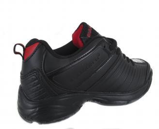 Юношески обувки Bulldozer еко кожа черни RVRJ-18584