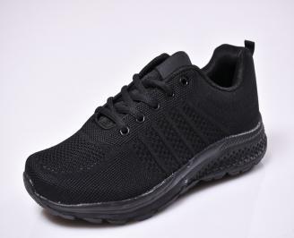 Юношески спортни обувки  текстил черни BZAH-1010326