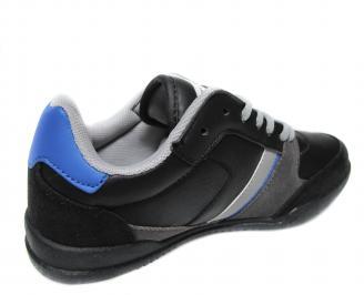 Юношески спортни обувки  Bulldozer черни еко кожа CPDF-20008