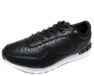 Юношески спортни обувки Bulldozer черни еко кожа LVIW-20048