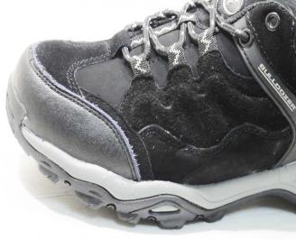Юношески  спортни обувки Bulldozer  естествен велур черни JEKE-25077