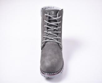 Юношески  зимни боти еко набук сиви CSBH-1013224