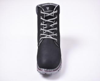 Юношески  зимни боти еко набук черни JDUG-1013231