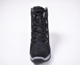 Юношески зимни боти еко набук черни AIQM-1013232