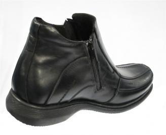 Зимни мъжки  боти от естествена кожа черни TIZU-10338